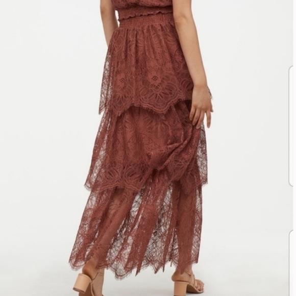 H&M Dresses & Skirts - Lace maxi skirt